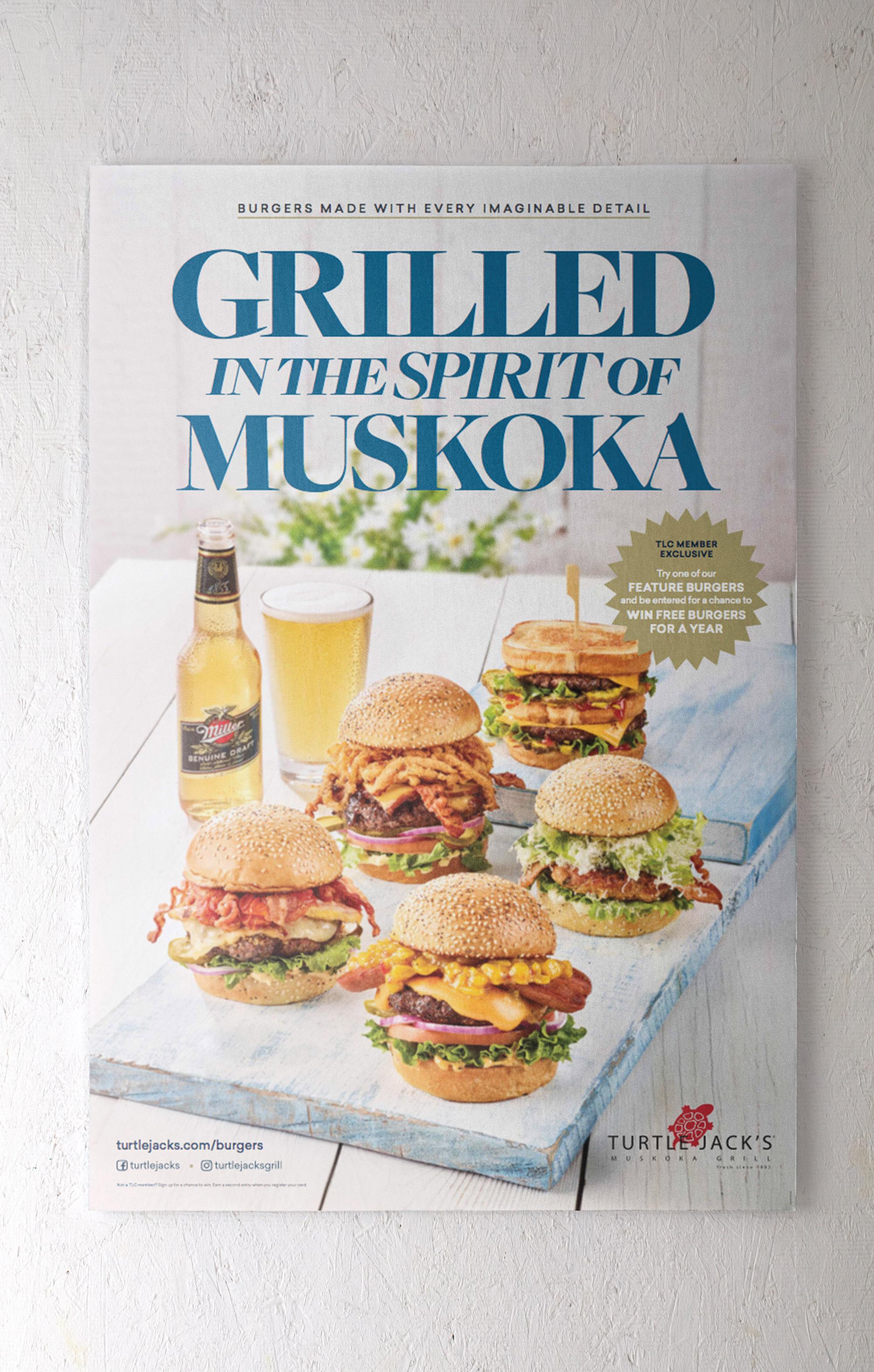 burger turtle jack's poster